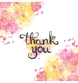 Thank you card Hand drawn lettering design vector image vector image