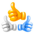 thumb up set vector image vector image
