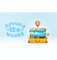 travel bag vacation design concept vector image vector image