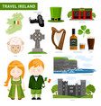 travel to ireland irish people collection of vector image vector image