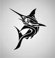 Tribal Marlin Fish vector image vector image