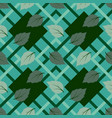 tropical leaf in geometric shape seamless pattern vector image