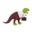tyrannosaurus businessman dino boss chief with vector image vector image