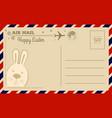 vintage happy easter postcard vector image