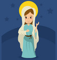 virgin mary catholicism spirit image vector image vector image