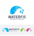 water fish logo design vector image vector image