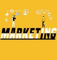 word concept marketing and people doing vector image