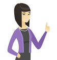 young asian business woman giving thumb up vector image vector image
