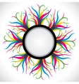 abstract colorful strip label vector image