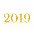 2019 new year golden text low poly design vector image
