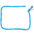 a blue crayon message frame vector image