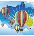 Air Balloons in the Sky5 vector image vector image