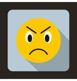 Annoyed emoticon icon flat style vector image vector image