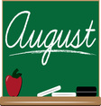 August Board vector image vector image