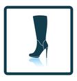 Autumn woman high heel boot icon vector image vector image