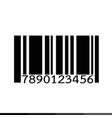 barcode icon design vector image vector image