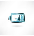 battery is discharged vector image vector image