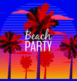 beach party flyer baner invitation design with vector image
