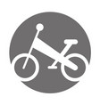 bicycle mountain isolated icon vector image vector image