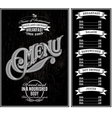 black template for cover menu vector image vector image