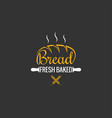 bread logo design bakery sign on black background vector image