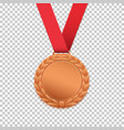 bronze medal isolated on transparent background vector image