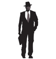 Business men sillhouettes vector image vector image