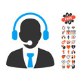 call center icon with valentine bonus vector image vector image
