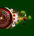casino advertising design vector image vector image