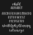 chalk handwritten latin calligraphy brush script vector image