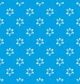 charm bracelet pattern seamless blue vector image