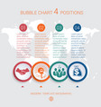 charts infographic step by step 5 positions vector image