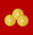 chinese gold coins graphic vector image