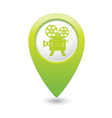cinema icon green map pointer vector image