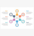 circle infographics template with six elements vector image vector image