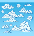 clouds drawings on blue sky 1 vector image