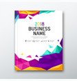cover book business name geometric abstract vector image