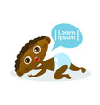 cute african american baby boy crawling toddler vector image