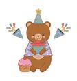 cute little animal cartoon vector image vector image