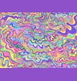 decorative psychedelic waves pastel color vector image vector image