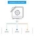 design app logo application design business flow vector image vector image