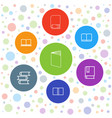 dictionary icons vector image vector image