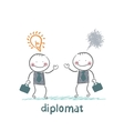 Diplomats are a good idea and bad thoughts vector image