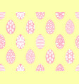 easter seamless pattern with easter eggs soft vector image vector image