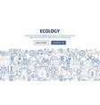 ecology banner design vector image
