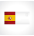 Envelope with Spanish flag card vector image vector image