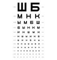 eye test chart vector image vector image