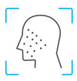 face id thin line icon face recognition vector image vector image