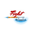 fight game element with hatchet vector image vector image