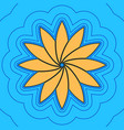 flower sign sand color icon with black vector image vector image